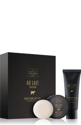 Scottish Fine Soaps Au Lait Noir Body Care Gift Set