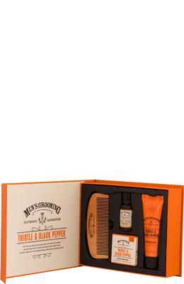 Scottish Fine Soaps Thistle & Black Pepper Face and Beard Care Kit