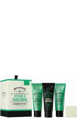 Scottish Fine Soaps Vetiver & Sandalwood Luxurious Gift Set