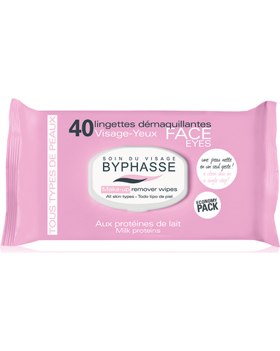 Byphasse Салфетки очищающие Make-up Remover Wipes Milk Proteins All Skin Types