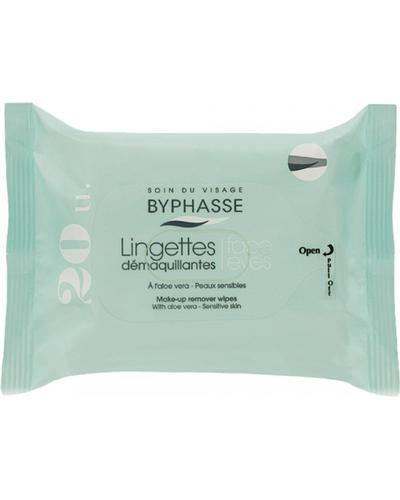 Byphasse Очищуючі серветки Make-up Remover Wipes Aloe Vera Sensitive Skin