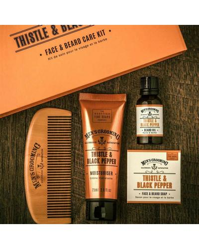 Scottish Fine Soaps Подарочный набор Thistle & Black Pepper Face and Beard Care Kit. Фото 2