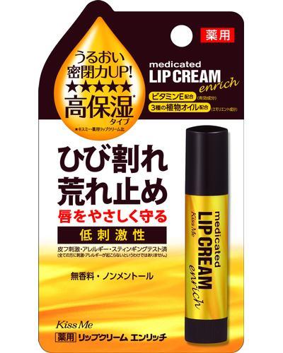 Isehan Бальзам для губ Medicated Lip Cream Enrich