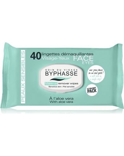 Byphasse Очищуючі серветки Make-up Remover Wipes Aloe Vera Sensitive Skin