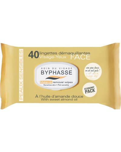 Byphasse Очищуючі серветки Make-up Remover Wipes Sweet Almond Oil Sensitive Skin
