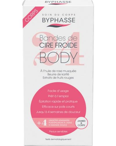 Byphasse Смужки для депіляції ніг та тіла Cold Wax Strips Legs & Body