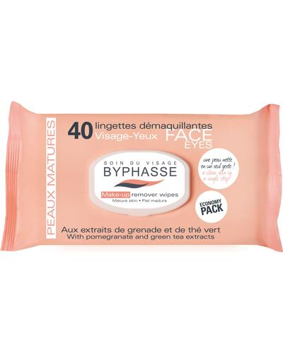 Byphasse Салфетки очищающие Make-up Remover Wipes Pomegranate Extract And Green Tea
