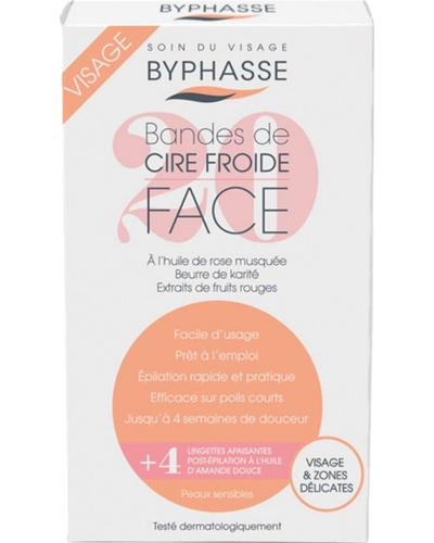 Byphasse Полоски для депиляции лица и деликатных зон Cold Wax Strips Face & Delicate Areas